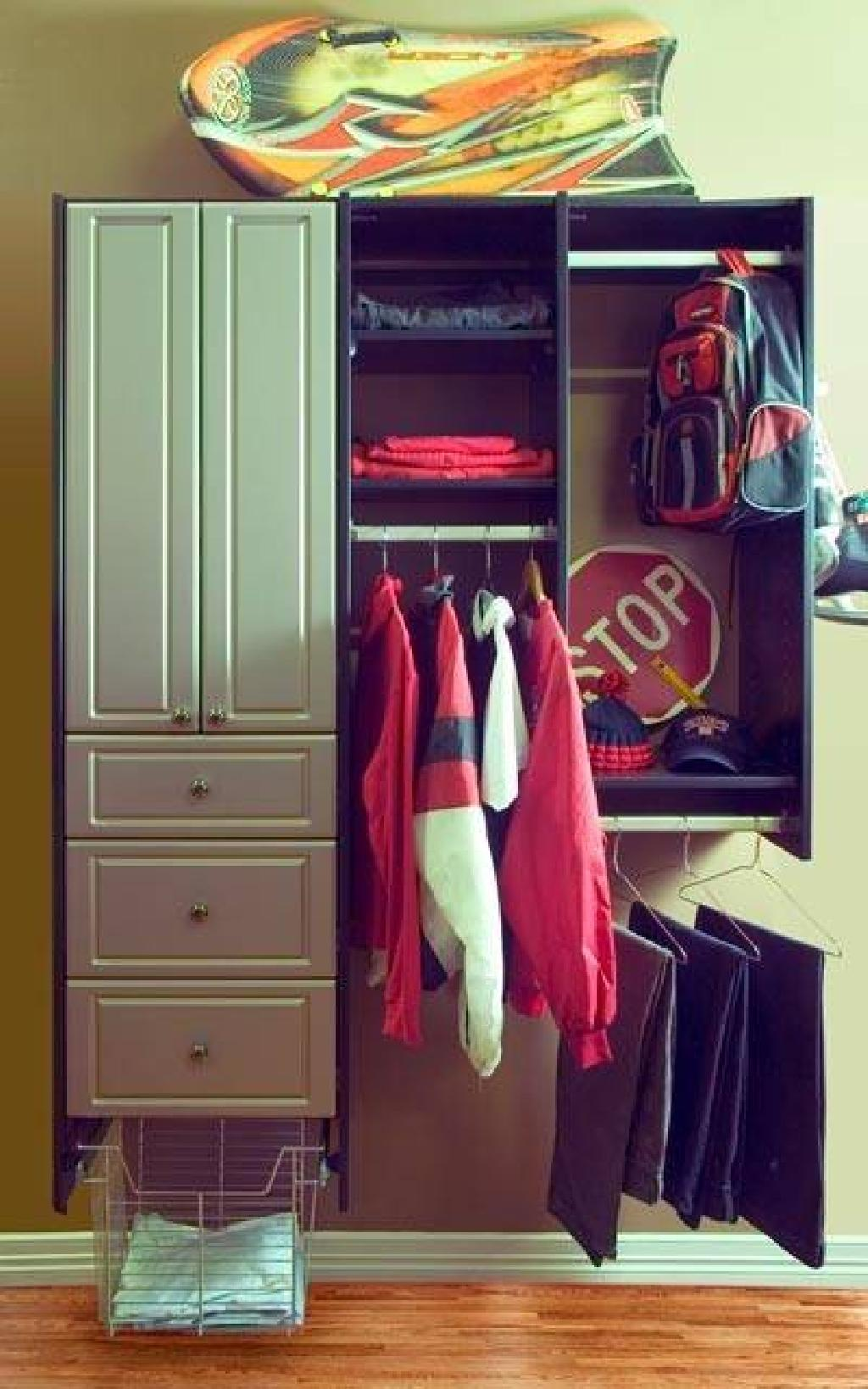 Closets To Go Teen Boy Reach In Closet Organizer